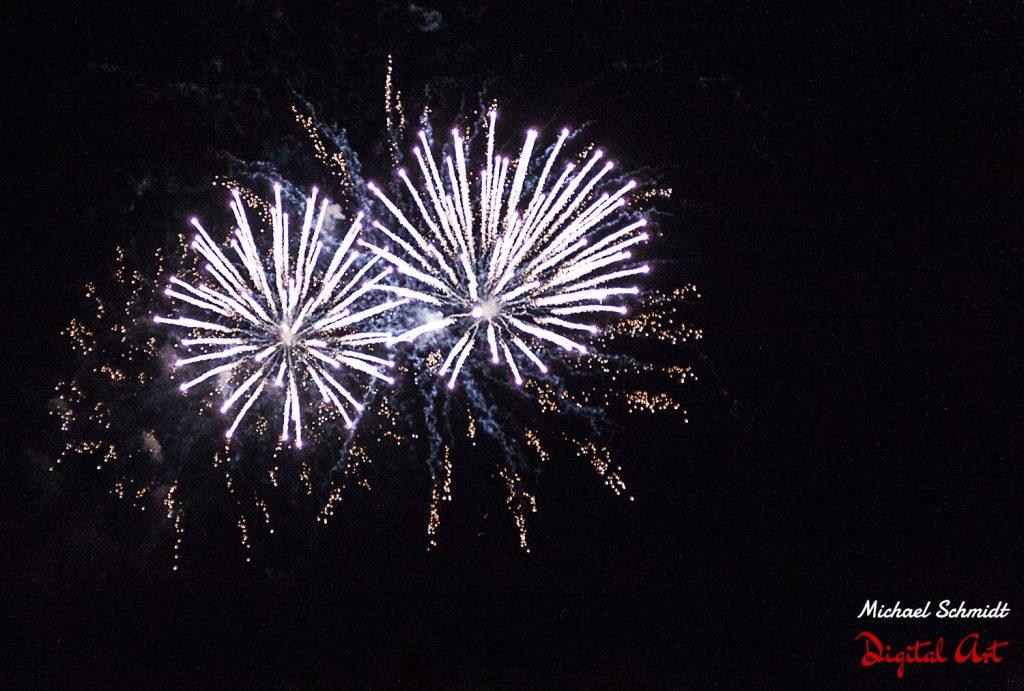 White Fireworks